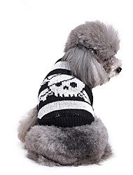 cheap -Dog Sweater Dog Clothes Skull Cotton Costume For Spring &  Fall Winter Men's Women's Casual / Daily