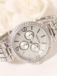 cheap -Women's Simulated Diamond Watch Quartz Water Resistant / Water Proof Alloy Band Sparkle Silver