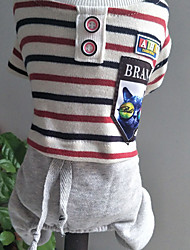 cheap -Dog Shirt / T-Shirt Dog Clothes Casual/Daily Stripe Stripe
