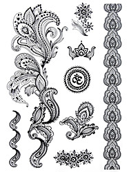 cheap -blacklace-henna-indian-body-temporary-sexy-tattoos-sticker-for-women-teens-girls-8-patterns-in-1-sheet-j021