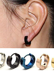 cheap -Women's Earrings Ladies Stainless Steel Earrings Jewelry Black / Gold / Silver For Wedding Party Office / Career Daily Athleisure