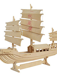 cheap -3D Puzzle Jigsaw Puzzle Wooden Model Fighter Aircraft Famous buildings House Wooden Natural Wood Unisex Toy Gift