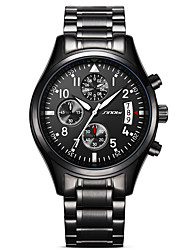 cheap -SINOBI Men's Sport Watch Military Watch Wrist Watch Japanese Quartz Metal Stainless Steel Black 30 m Water Resistant / Waterproof Calendar / date / day Creative Analog Charm Luxury Vintage Casual