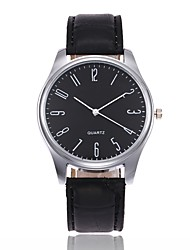 abordables -Homme Montre Quartz Cuir Noir / Marron Analogique Simple Mode Elégant Aristo Montre simple - Noir / Brun Noir blanc Blanc / Marron