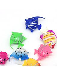 cheap -Fish Tank Aquarium Decoration Fish Artificial Fish Random Color Decoration Plastic 3.5-4 cm