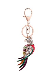 cheap -Keychain Personalized Dangling Animal Design Fashion Euramerican Rhinestone Ring Jewelry Light Pink For