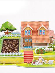 abordables -Puzzles 3D Puzzle Jouets Bâtiment Célèbre Maison Architecture 3D A Faire Soi-Même Papier Enfant Pièces