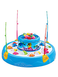 Недорогие -Рыболовные игрушки Вращающаяся Рыбалка Игрушка Рыбки Магнитный 4 игрока Пластик Детские Игрушки Подарок 1 pcs