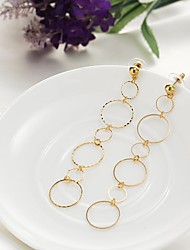 cheap -Women's Drop Earrings Circular Dangling Pendant Classic Circle Fashion Earrings Jewelry Gold / Silver For Christmas Wedding Party Special Occasion Anniversary Birthday