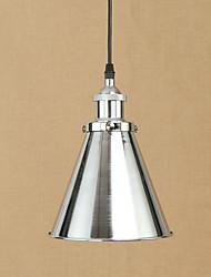 cheap -1-Light 18.5 cm Anti-Glare / Bulb Included / Designers Pendant Light Metal Chrome Retro 110-120V / 220-240V