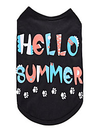 cheap -Dog Vest Dog Clothes Letter & Number Cotton Costume For Spring &  Fall Summer Men's Women's Casual / Daily