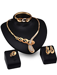 cheap -Women's Pendant Necklace Personalized Fashion Gold Plated Earrings Jewelry Gold For Engagement Evening Party Club