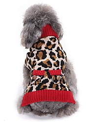 cheap -Cat Dog Coat Sweater Christmas Winter Dog Clothes Leopard Costume Spandex Cotton / Linen Blend Leopard Party Cosplay Casual / Daily XXS XS S M L XL