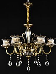 cheap -QINGMING® 6-Light 73 cm Designers Chandelier Metal Glass Brass Traditional / Classic 110-120V / 220-240V