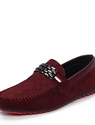 cheap -Men's Comfort Shoes Light Soles Spring / Fall Casual Outdoor Loafers & Slip-Ons Walking Shoes PU Black / Red / Blue / Rivet / EU40