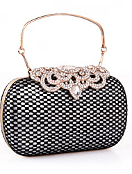 cheap -Women's Bags leatherette Clutch Rhinestone Lace for Wedding / Party / Event / Party Gold / Silver
