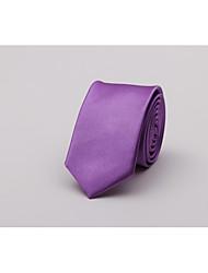 abordables -Homme Mode Cravate Couleur Pleine