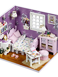 cheap -DIY Famous buildings Furniture House Wooden Kid's Girls' Toy Gift