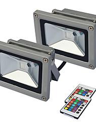 Недорогие -jiawen 2pcs привело свет прожектора уличный прожектор прожектор 10w rgb ip65 лампа омывателя стены водонепроницаемый садовый светильник ac85 -265v