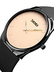 cheap -SKMEI Men's Wrist Watch Japanese Quartz Quilted PU Leather Black 30 m Water Resistant / Waterproof Cool Analog Classic Casual Fashion Minimalist - Black Blue Rose Gold Two Years Battery Life