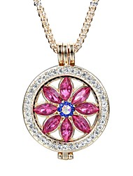 cheap -Women's Crystal Pendant Necklace Flower Ladies Elegant Vintage Fashion Crystal Alloy Gold Silver Necklace Jewelry For Daily Casual Evening Party Formal Date