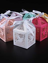 Недорогие -Кубик Розовая бумага Фавор держатель с Ленты Коробочки - 50
