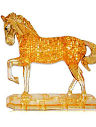 cheap -3D Puzzle Jigsaw Puzzle Crystal Puzzle Dog Tower Horse Plastics Iron Unisex Toy Gift