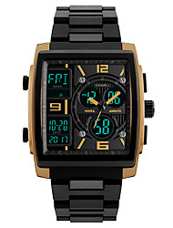 cheap -SKMEI Men's Sport Watch Wrist Watch Digital Watch Digital Classic Water Resistant / Waterproof Analog - Digital Golden Black Red / Two Years / Quilted PU Leather / Japanese / Alarm
