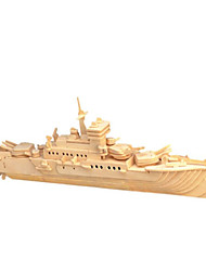 cheap -3D Puzzle Jigsaw Puzzle Wooden Model Warship Famous buildings House Wooden Natural Wood Unisex Toy Gift
