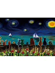 cheap -1000 pcs Animal Series Cat Dog Moon Jigsaw Puzzle Adult Puzzle Jumbo Wooden Anime Oil Painting Kid's Adults' Toy Gift