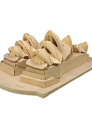 cheap -3D Puzzle Jigsaw Puzzle Wooden Model Famous buildings House Wooden Natural Wood Unisex Toy Gift