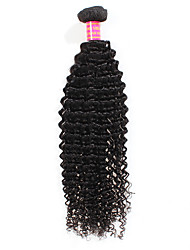 cheap -1 Bundle Peruvian Hair Curly Kinky Curly Unprocessed Human Hair Human Hair Weaves Human Hair Extensions / 8A