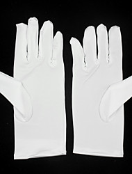 cheap -Elastic Satin Wrist Length Glove Flower Girl Gloves With Ruffles