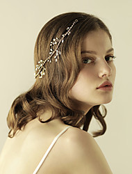 cheap -Pearl Headbands with 1 Wedding / Special Occasion / Anniversary Headpiece