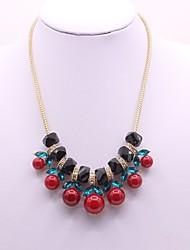 Недорогие -Жен. Синтетический алмаз Ожерелья с подвесками Классика Мода Сплав Красный Ожерелье Бижутерия Назначение Для вечеринок Подарок Повседневные Для сцены