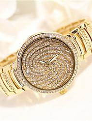 cheap -Women's Simulated Diamond Watch Quartz Alloy Band Silver Gold