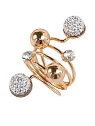 cheap -Ring Geometrical White Black Alloy Statement Ladies Geometric Adjustable / Women's