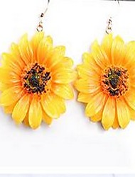 cheap -Women's Drop Earrings Flower Bohemian Basic Fashion Cute Earrings Jewelry Yellow For Gift Daily Date Holiday Going out
