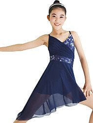 cheap -Ballet Dresses Women's Performance Elastic / Lycra Ruffles / Paillette Sleeveless Natural Dress / Headwear