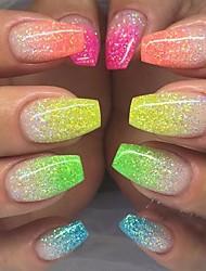 cheap -12pcs 1 set Glitter Powder For 12 Colors nail art Manicure Pedicure Elegant & Luxurious Sparkle & Shine Nail Glitter