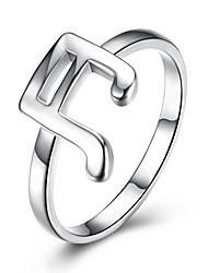 abordables -Femme Anneau Alliance Bague Argent Argent sterling Luxe Classique Style Simple Mariage Soirée Bijoux Musique Note de Musique Amour