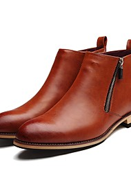 cheap -Men's Bootie Synthetics Fall / Winter British Boots Black / Brown / Party & Evening / Party & Evening / Office & Career