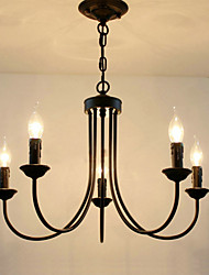 cheap -5-Light 62 cm Candle Style Chandelier Metal Candle-style Painted Finishes Traditional / Classic 110-120V / 220-240V