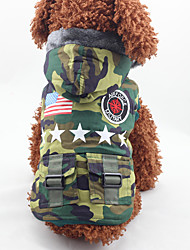 cheap -Dog Coat Dog Clothes Fashion American/USA Camouflage Color Costume For Pets