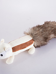 cheap -Plush Toy Squeaking Toy Dog Puppy Pet Toy Cute Squeak / Squeaking Squirrel Faux Fur Gift