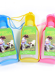 cheap -L Cat Dog Bowls & Water Bottles Pet Bowls & Feeding Portable Yellow Blue Pink