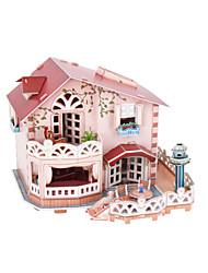 abordables -Puzzles 3D Puzzle Maison de Poupées Bâtiment Célèbre En bois Enfant Fille Jouet Cadeau