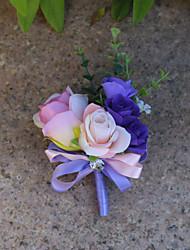Недорогие -Свадебные цветы Бутоньерки Свадьба органза / Satin 3.94 дюймовый