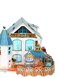 abordables -Puzzles 3D Puzzle Architecture 3D Bois Naturel Fille Unisexe Cadeau