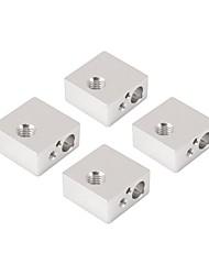cheap -4Pcs Aluminum Heater Heating Block Dedicated for Makerbot MK7 MK8 3D Printer Extruder Hot End